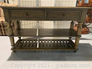 Buffet Table W/ 2 Drawer & 2 Shelves