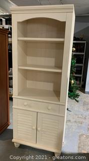 Farmhouse 2 Shelf Bookshelf W/Storage