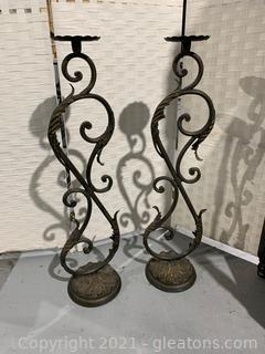 Lovely Metal Candle Holders