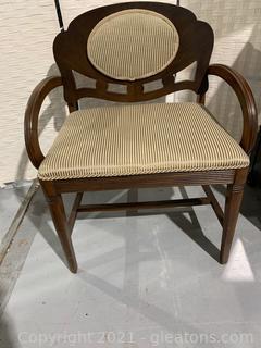 Quaint Upholstered & Wood Arm Chair