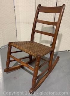 Vintage Cane Rocking Chair