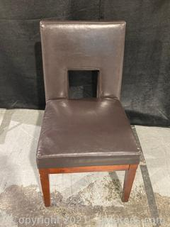 Modern Look Accent Chair W/Leather Look Finish