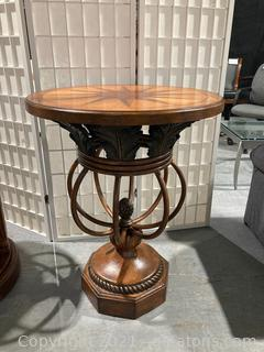 Traditional Star Perimeter Decor Side Table