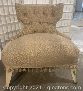 Tufted Leopard Inspired Accent Chair