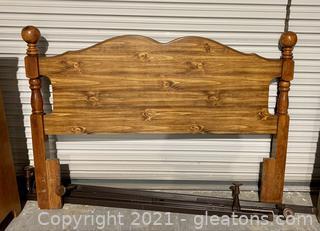Wooden Bed Headboard Full Size