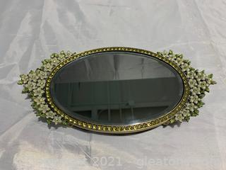 Precious Two's Company Vanity Table Tray Mirror