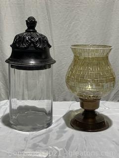 Two Decorative Glass Items