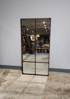 Classy Window Pane Style Mirror