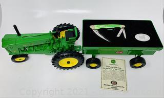 "Case XX John Deere Model ""70"" Tractor with Bone Seahorse Whittler Knife"