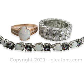 Imitation Opal, Mystic Topaz and CZ Jewelry Lot