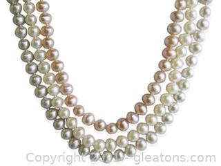 Classic 3 Strand Freshwater Pearl Necklace
