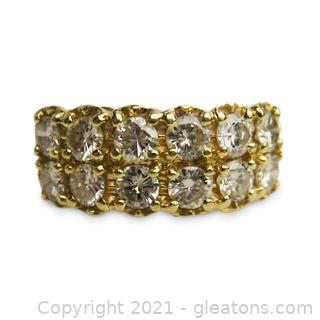 Very Sparkly 2CT Diamond Ring in 14kt Yellow Gold