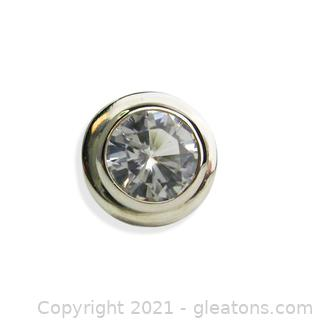 Classic White Topaz Pendant in Sterling Silver