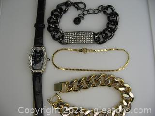Vivani Watch and Bracelet Lot
