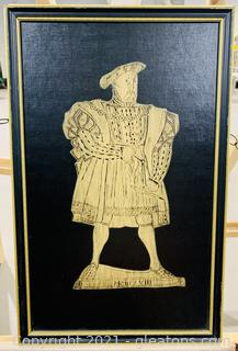 Henry VIII Brass Rubbed Decorative Art