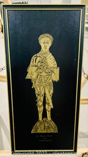 Brass Rubbed Sir Thomas Peyton Decorative Art
