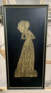 Brass Rubbed Lady Margaret Peyton Decorative Art
