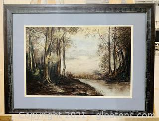 Charming Forest and Stream Framed Print