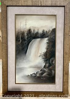 Senenic Waterfall Framed Print