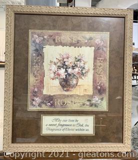 Appealing Floral Affirmation Print