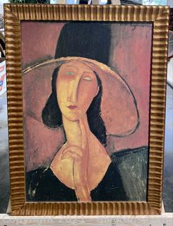 Perfect Oil On Canvas of Jeanne Hebuterne