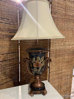 """Urn Style """"Night Flower"""" Table Lamp"""