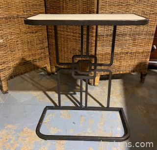 Geometric Iron Accent Table