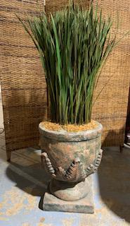Faux Greenery in Urn Style Planter
