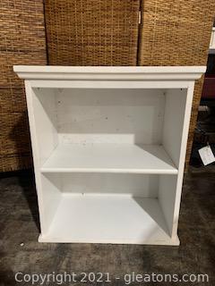 Small White Storage/Book Shelf