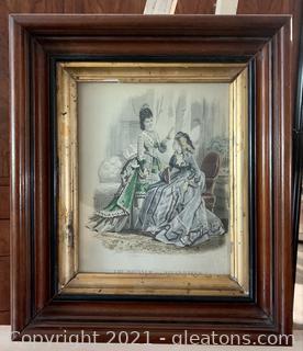 1870's Fashion Milliner and Dressmaker Signed