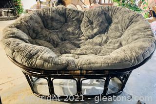 Indoor Double Papasan Lounge Chair