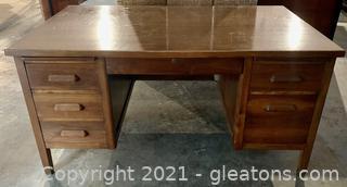 Timeless Solid Wood 6 Drawer Desk