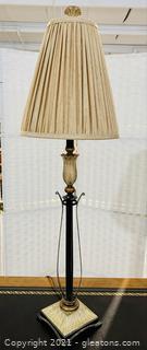 Inviting Ebony Metal Table Lamp