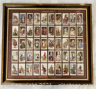 Collectors 1929 WD and HO Wills Cigarette Cards Framed