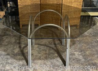 Glass Octagon Dining Table