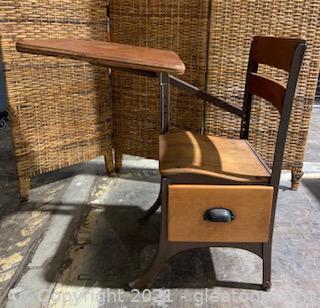 Vintage Wooden Childs School Desk