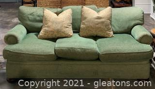 Dapha Green Upholstered Couch