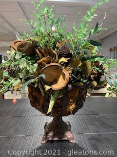 Tabletop Plant Decor in Iron Planter