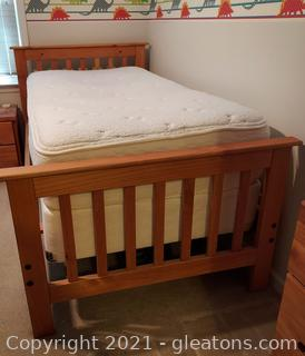Solid Pine Twin Bed-Great for Kids Room