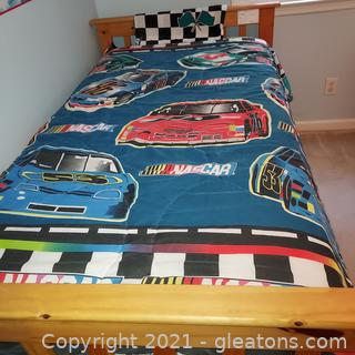 Twin Size Nascar Comforter with Matching Valance