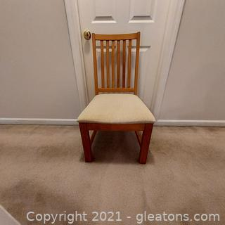 Nice Farmhouse Style Chair with Upholstered Seat