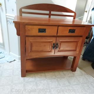 2 Drawer Honey Colored Accent Cabinet Great for Hallway