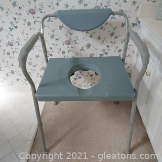 Drive Extra Wide Height Adjustable Over the Commode Chair