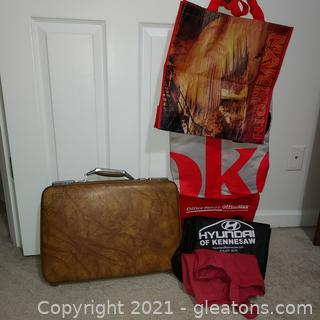 Vintage American Tourister Briefcase- (Has Keys) Plus Extra Tote Bags