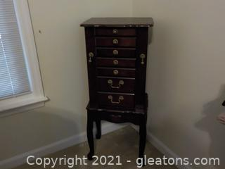 Elegant Standing Jewelry Armoire by Powell