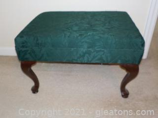 Firm Forest Green Ottoman Perfect Size for Chair or Sofa !
