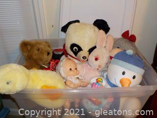 Tub Stuffed Animals Most Vintage