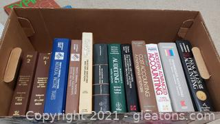 Box #1: Box of Books- Accounting , Typing & Taxes