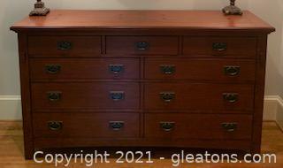 Mahogany Dresser with Inlay Design