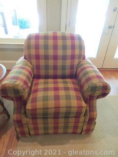 Plaid Lazy Boy Arm Chairs